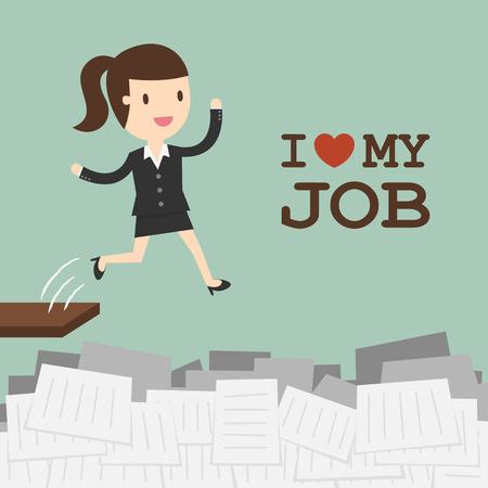 I Love My Job Banco de Imagens - 53139179