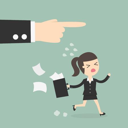 jefe enojado: El empleado y el empleador, jefe despedir a un empleado