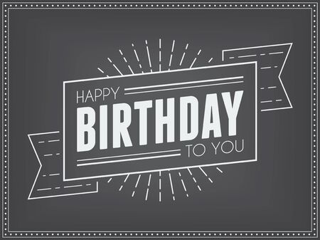 birthday greetings: Vintage Birthday Greetings Template