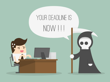 Deadline. Cartoon Vector Illustration Illustration