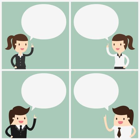 Discussie. Cartoon Vector Illustration