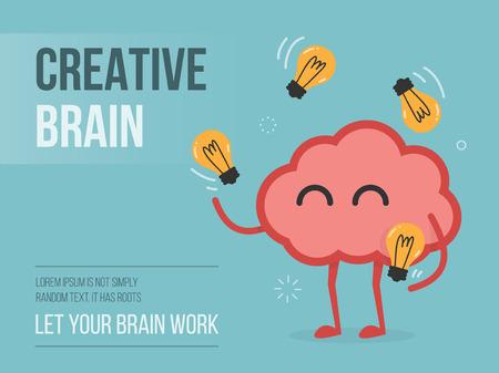 cerebro: Cerebro creativo, eps 10 ilustración vectorial