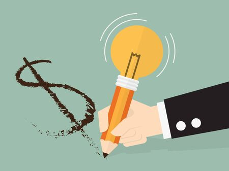 making money: Making money from an idea, eps 10 vector illustration