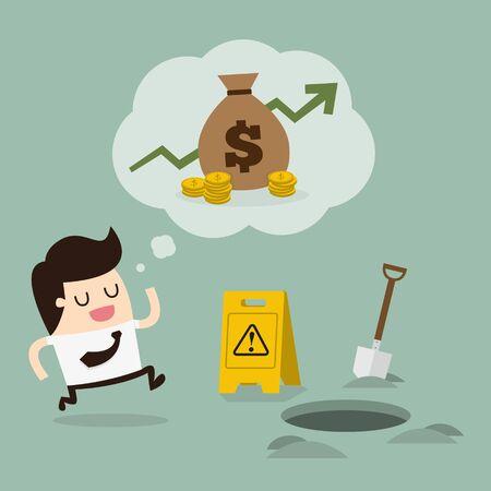 careless: Careless businessman