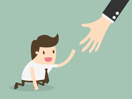 Helping hands  イラスト・ベクター素材