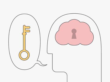 Vektor-Illustration der Idee Konzept mit offenen Geist Vektorgrafik