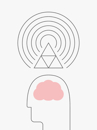 vibration: The concept of law of vibration, law of attraction Illustration
