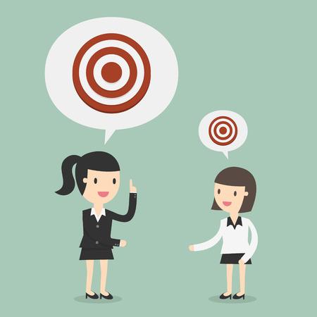 Big Target. Business Concept Cartoon Illustration