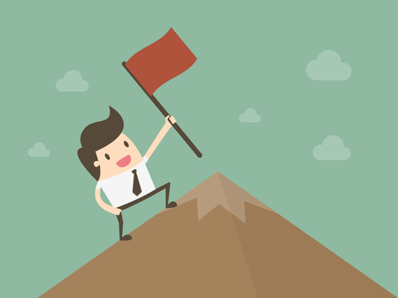 Successful Businessman. Business concept cartoon illustration