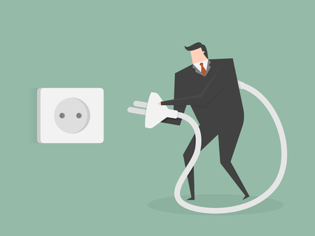 tired businessman: Tired Businessman. Business concept cartoon illustration. Illustration