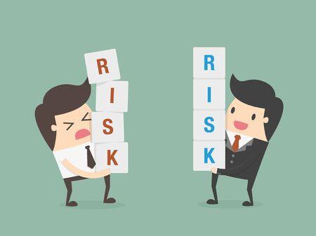 management concept: Risk management. Business concept cartoon illustration Illustration