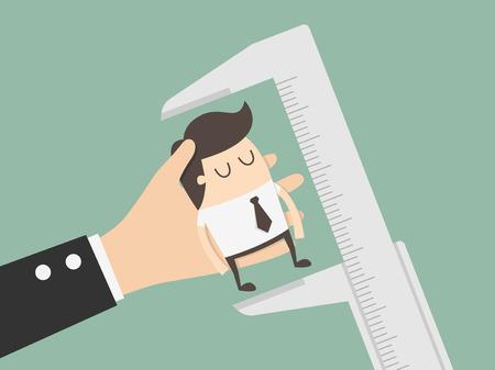 evaluacion: La evaluación de los empleados. Ilustración del asunto Concepto de dibujos animados. Vectores