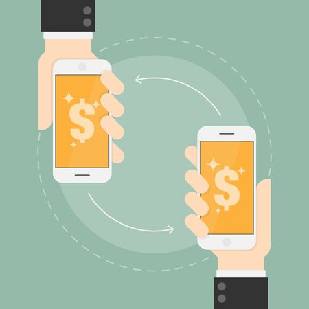 purchases: E Payment. Near Field Communication Technology. Business Concept Illustration
