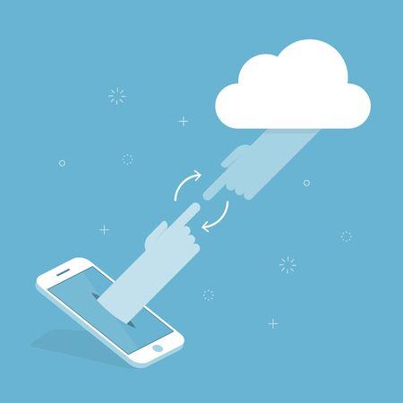 cloud technology: Cloud Technology. Concept Illustration. Illustration