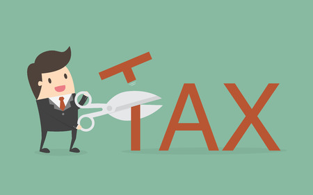 Tax Deduction. Business Concept Cartoon Illustration.