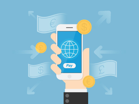 mobile technology: Mobile Payments. Financial Technology Concept Illustration. Illustration