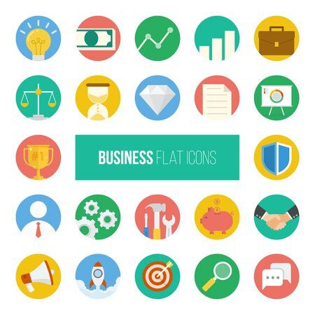 icons business: Business Flat Icons.