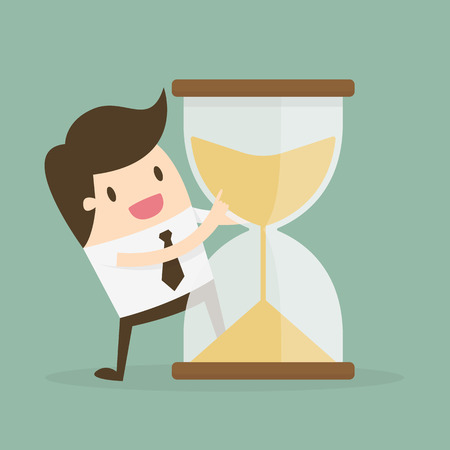Time Management. Business Concept Cartoon Illustration.