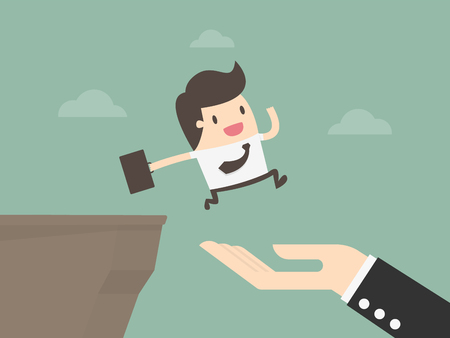 Business Partnership And Support. Business Concept Illustration. Vektorové ilustrace