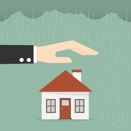 損害保険及びセキュリティの概念。ビジネス概念図。
