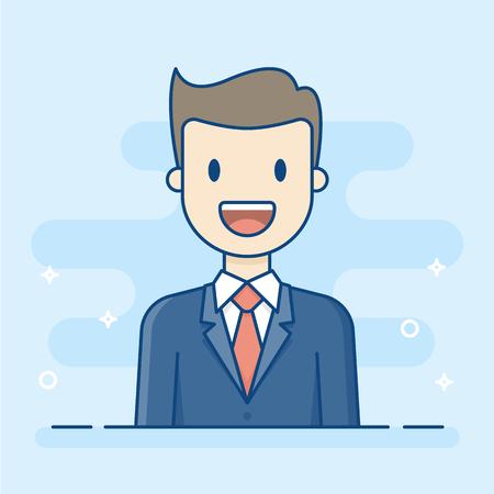 Happy Businessman. Business Illustration. Illustration