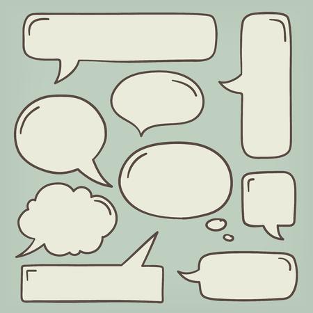 Speech Bubble Doodle Set.