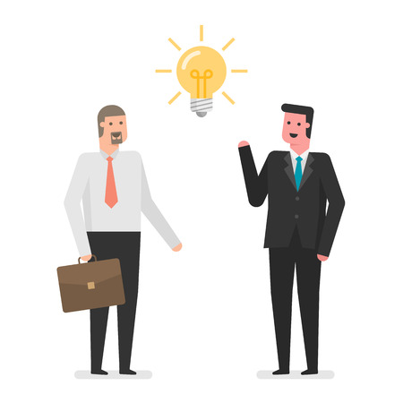아이디어와 기업인입니다. 스톡 콘텐츠 - 89841157