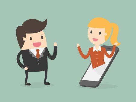 Business communication concept Illustration