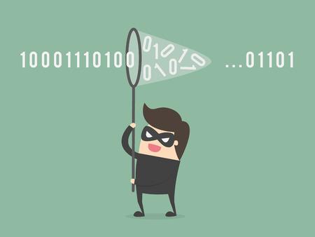 Internet phishing illustration Illustration