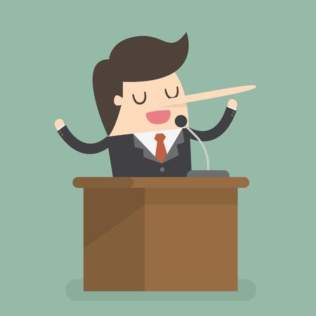 Dishonest businessman illustration Illustration