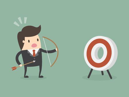 Business success target illustration Vettoriali