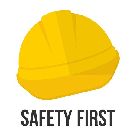 Safety First. Hard Hat Icon. Illustration