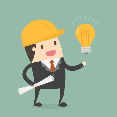 Businessman with idea Concept Illustration.