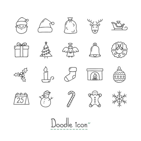 Doodle Christmas Icons