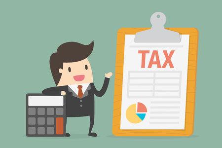 Paiement de l'impôt. Illustration de concept d'entreprise.