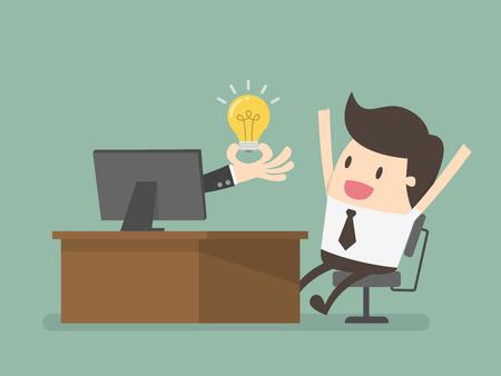 Ilustración del concepto de negocio. Ilustración de vector