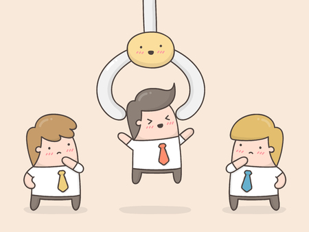 Choosing the best employee. Illustration