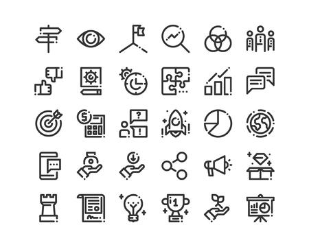 Bold line business icon. Ilustração
