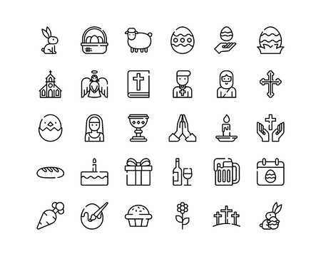 Collection de symboles de Pâques.