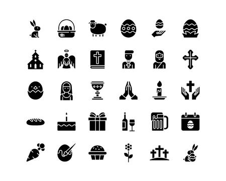 Sammlung von Ostersymbolen.