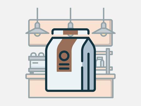 Coffee shop elements vector illustration. Stock Vector - 123969399