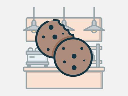Coffee shop elements vector illustration. Stock Illustratie