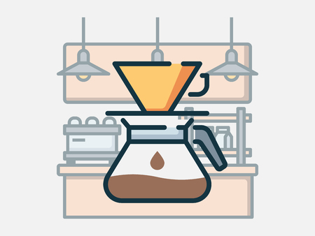 Coffee shop elements vector illustration.  イラスト・ベクター素材