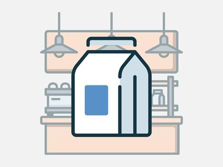 Coffee shop elements vector illustration. 일러스트