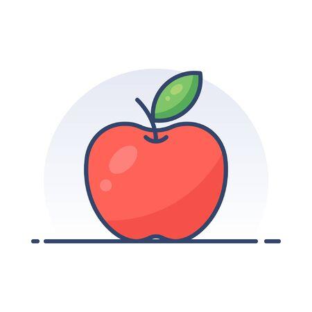 Apple. Detailed filled outline icon. Illustration