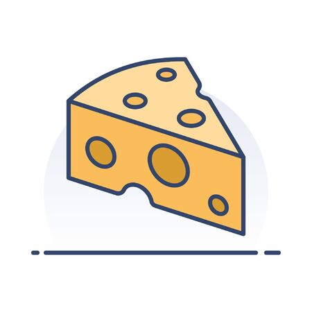 Cheese. Detailed filled outline icon.