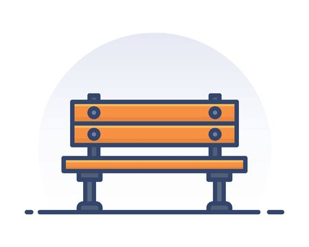 Outdoor bench. Filled outline icon.