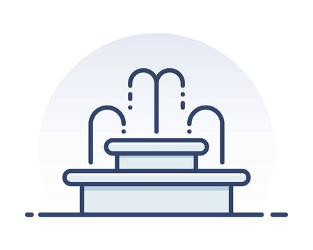 Antique fountain. Filled outline icon.