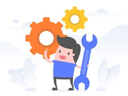 Execution, Implementation. Business Concept Illustration. Illustration