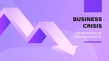 Crisis empresarial. Fondo de presentación de negocios con ilustración. Ilustración de vector